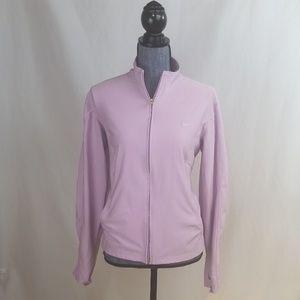 Nike lavender, dri-fit, full zip sweater,  sz XL